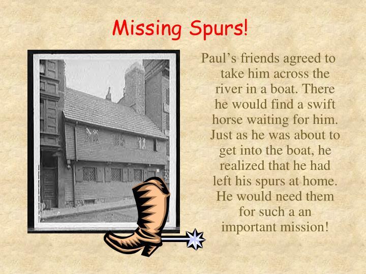 Missing Spurs!
