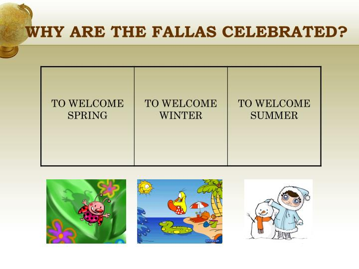 WHY ARE THE FALLAS CELEBRATED?