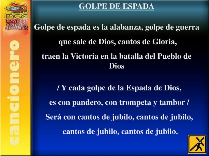 GOLPE DE ESPADA