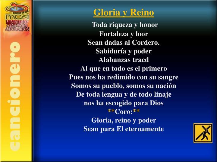 Gloria y Reino