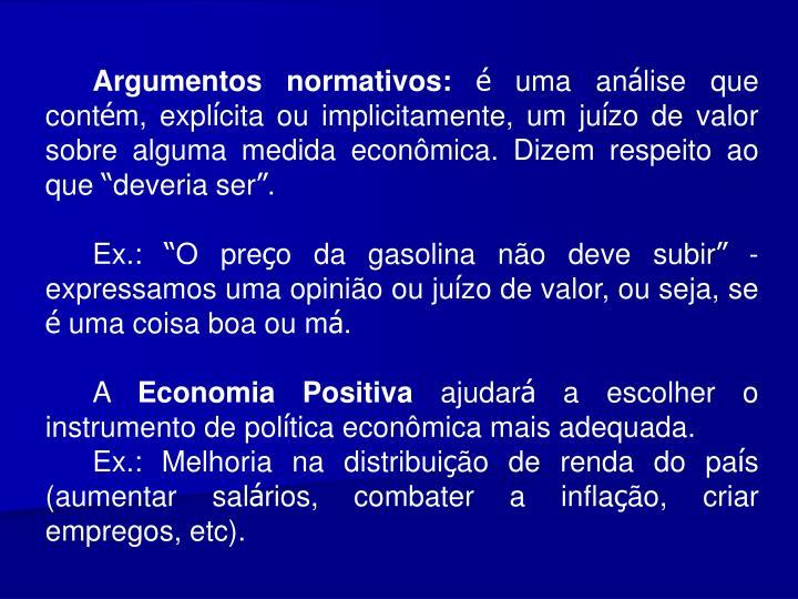 Argumentos normativos: