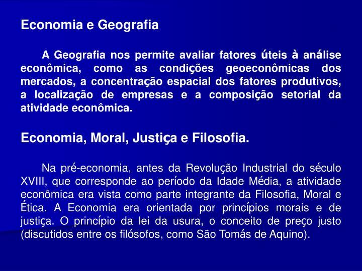 Economia e Geografia