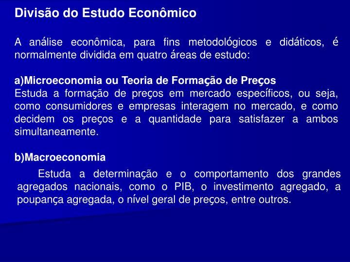 Diviso do Estudo Econmico