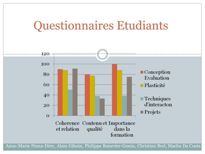 Questionnaires Etudiants
