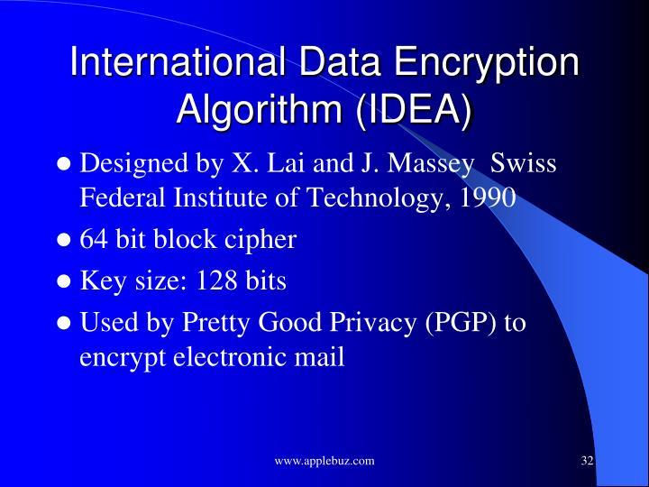 International Data Encryption Algorithm (IDEA)
