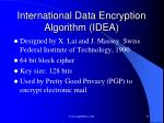 international data encryption algorithm idea