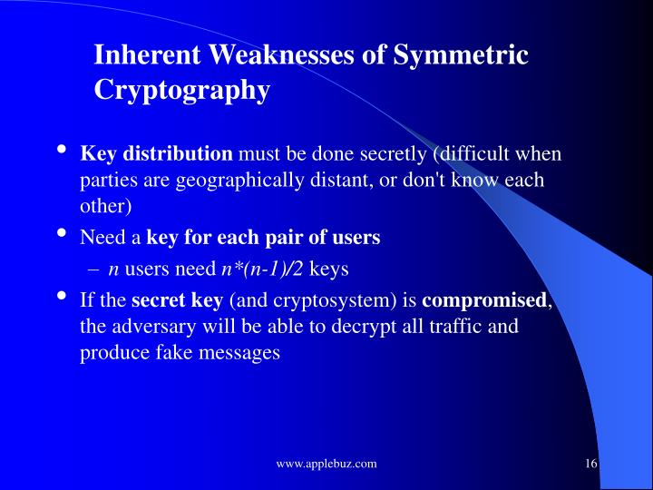 Inherent Weaknesses of Symmetric Cryptography