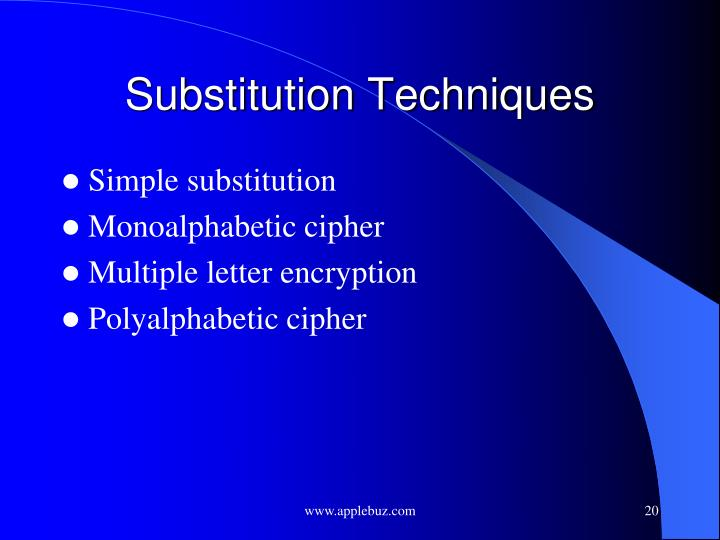 Substitution Techniques