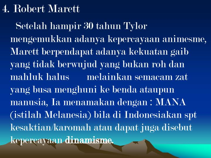 4. Robert Marett