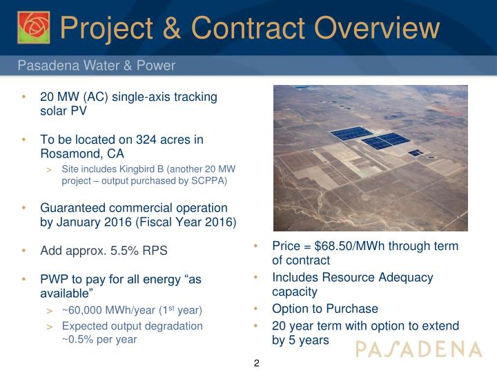 Project contract overview