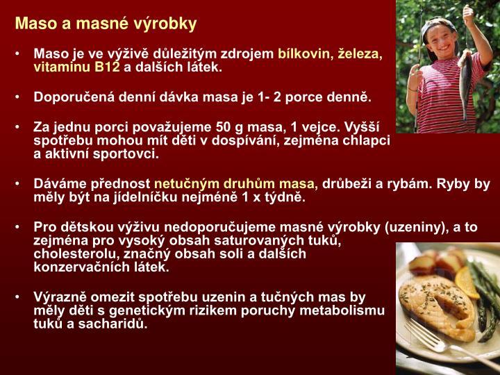 Maso a masné výrobky