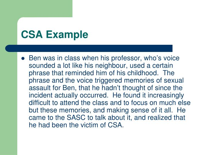 CSA Example