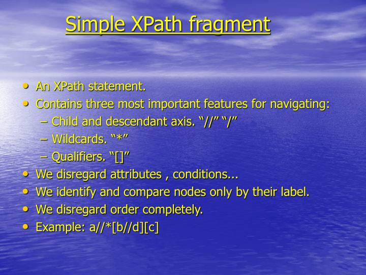 Simple XPath fragment