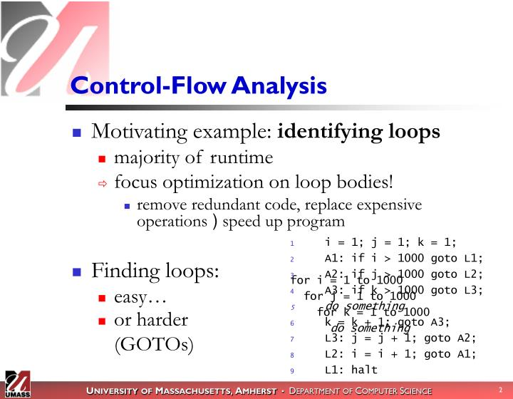 Control-Flow Analysis