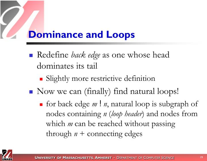 Dominance and Loops