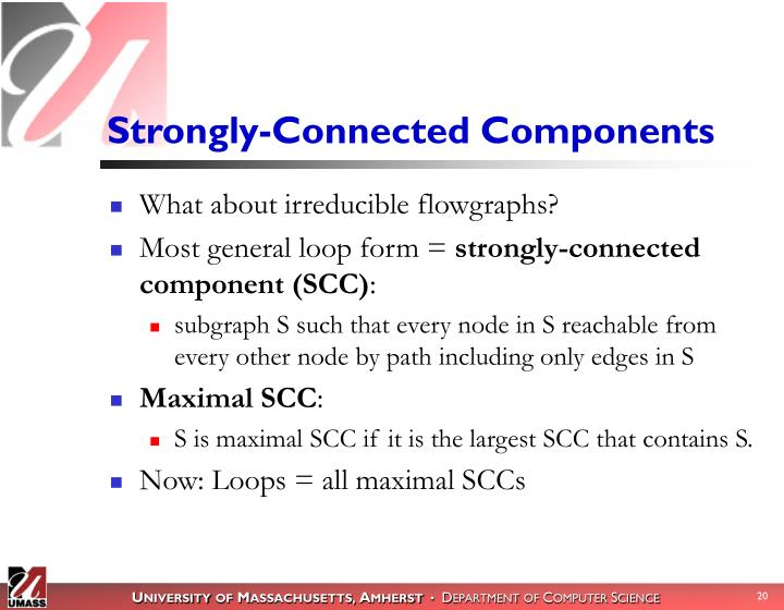 Strongly-Connected Components