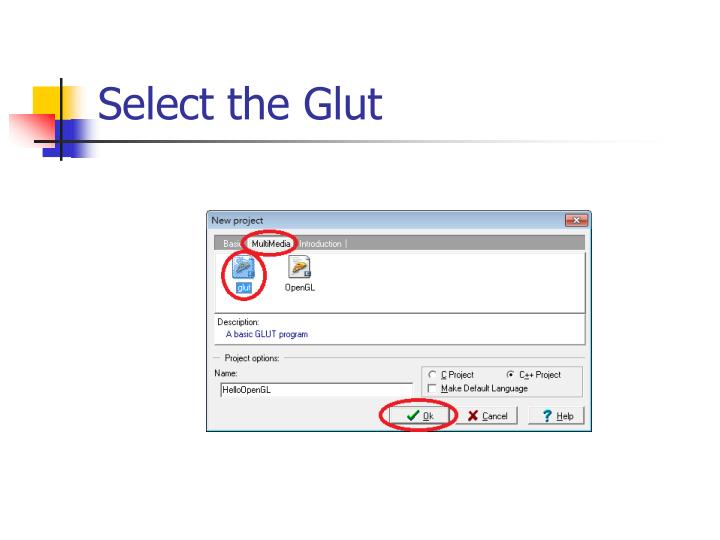 Select the Glut