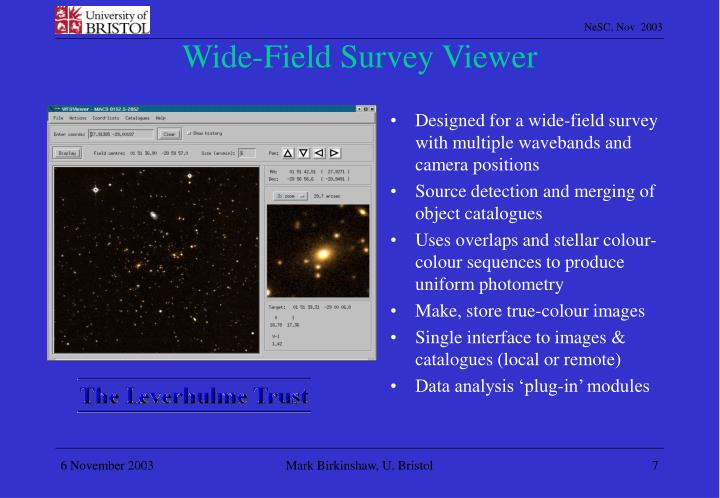 Wide-Field Survey Viewer