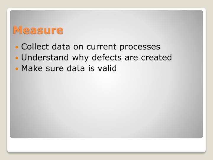 Collect data on current processes