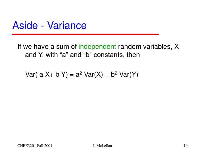 Aside - Variance