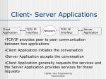 client server applications