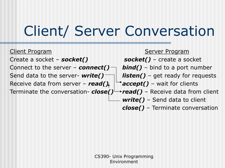 Client/ Server Conversation