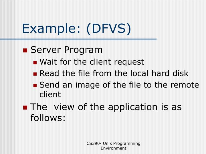 Example: (DFVS)