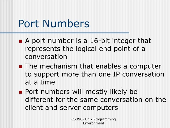 Port Numbers