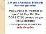 2 o que a anima o b blica da pastoral pretende1