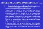 issues relating to initiation contd1