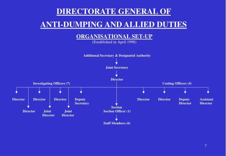 DIRECTORATE GENERAL OF