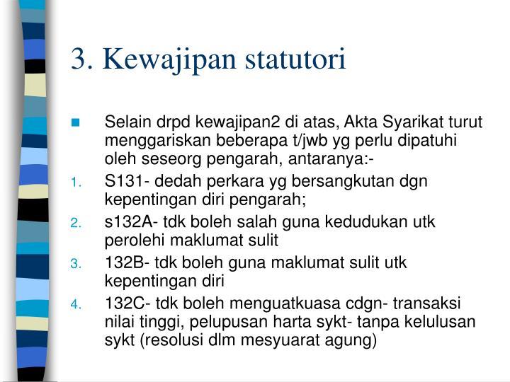 3. Kewajipan statutori