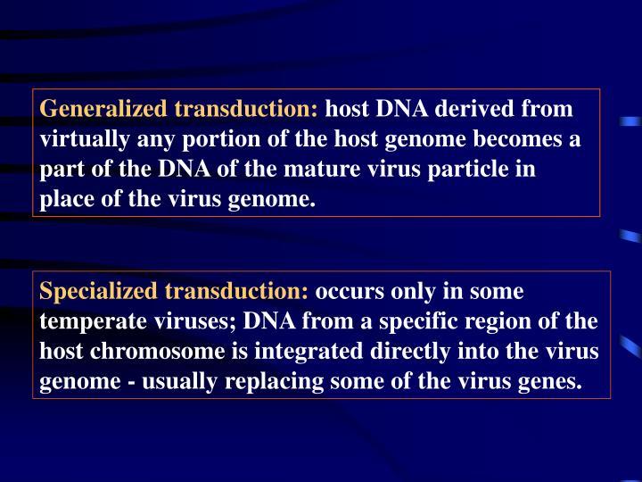 Generalized transduction: