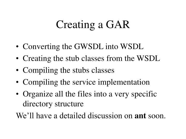 Creating a GAR