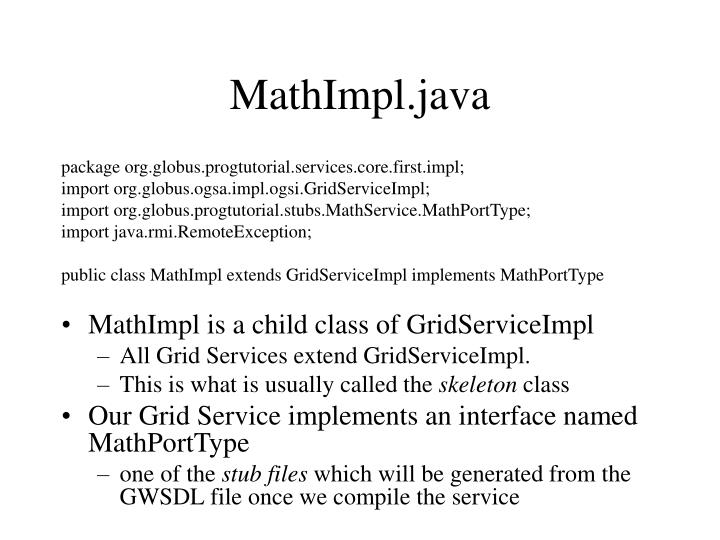 MathImpl.java