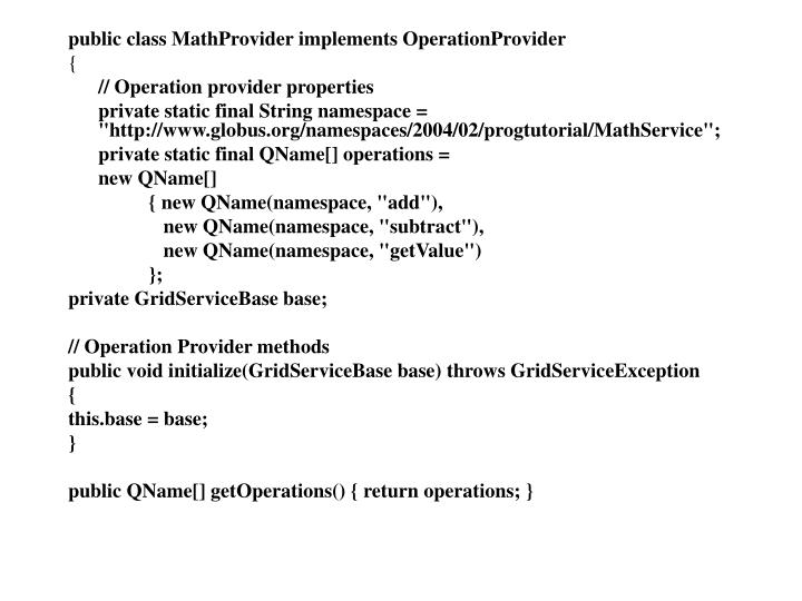 public class MathProvider implements OperationProvider