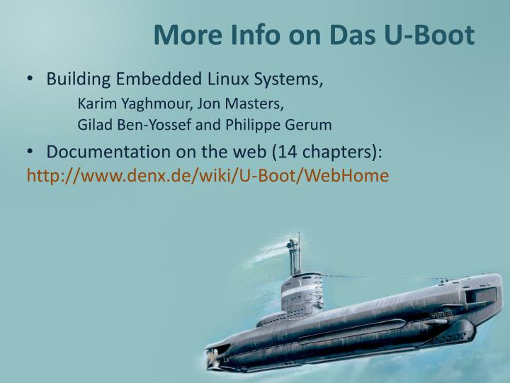 More Info on Das U-Boot
