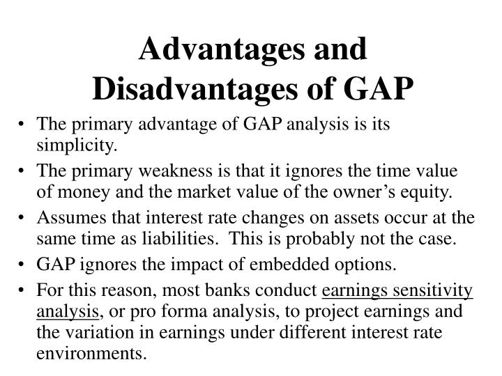 Advantages and Disadvantages of GAP
