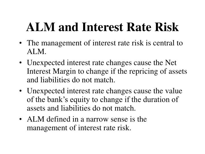 Alm and interest rate risk