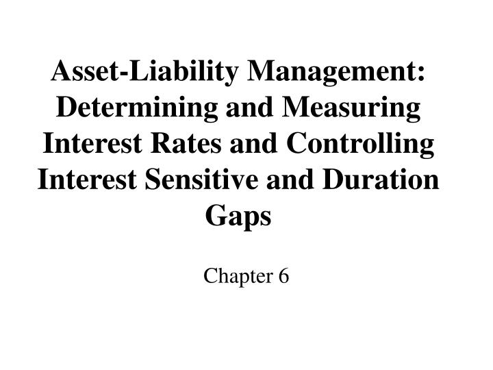 Asset-Liability Management: