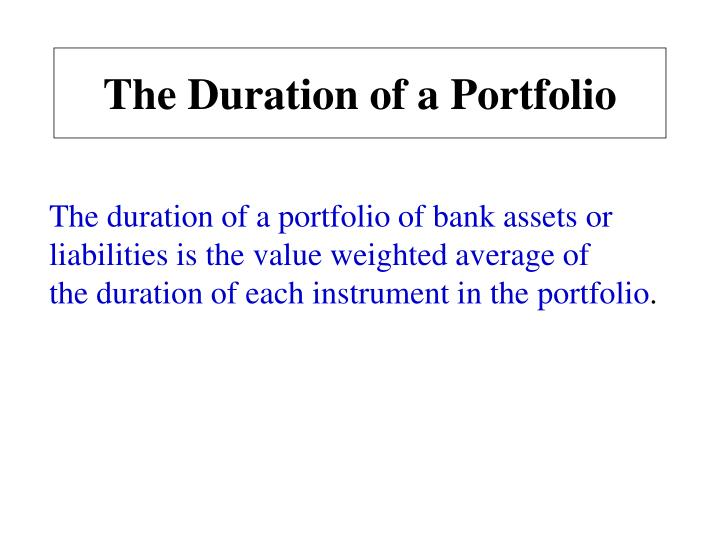 The Duration of a Portfolio