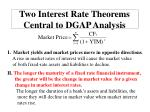 two interest rate theorems central to dgap analysis