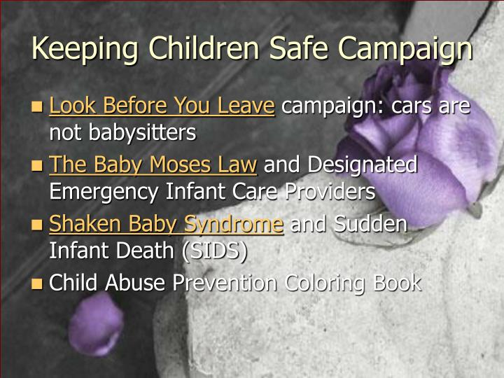Keeping Children Safe Campaign