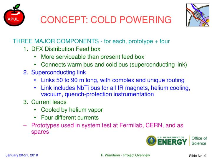 CONCEPT: COLD POWERING