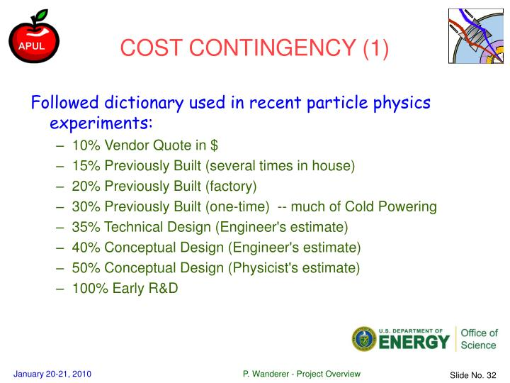 COST CONTINGENCY (1)