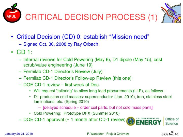 CRITICAL DECISION PROCESS (1)