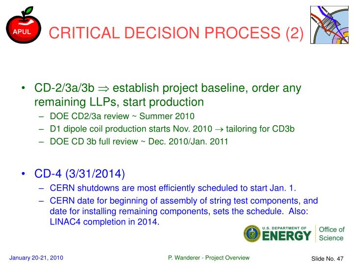 CRITICAL DECISION PROCESS (2)