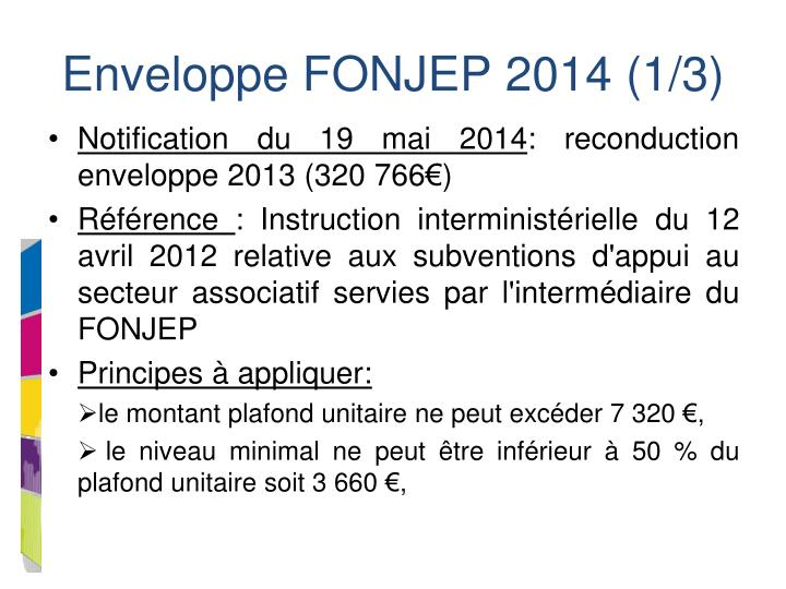 Enveloppe FONJEP 2014 (1/3)