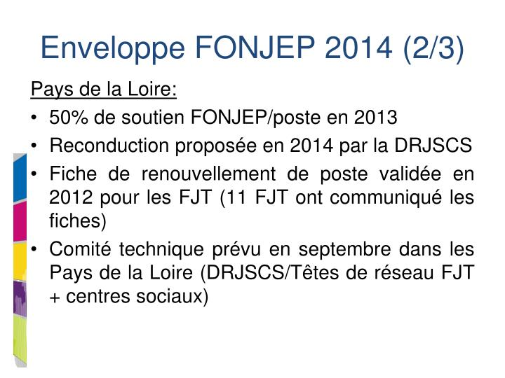 Enveloppe FONJEP 2014 (2/3)