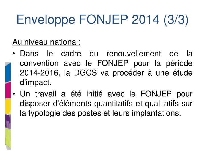 Enveloppe FONJEP 2014 (3/3)
